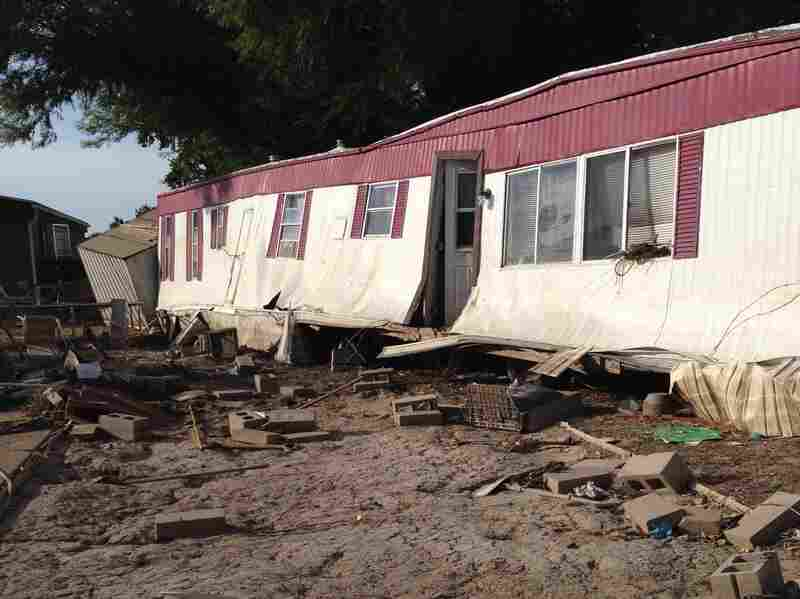 The Eastwood Village mobile home park in Evans was wiped out in September's floods.