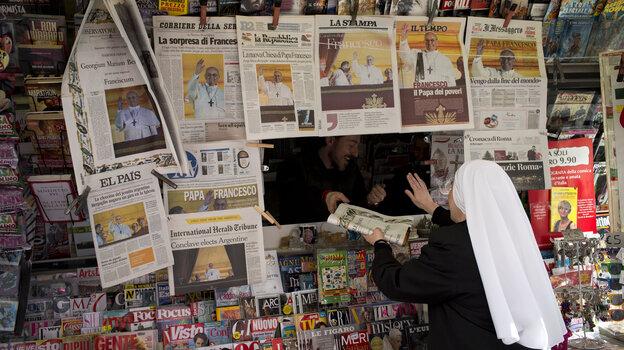A newsstand in Rome.