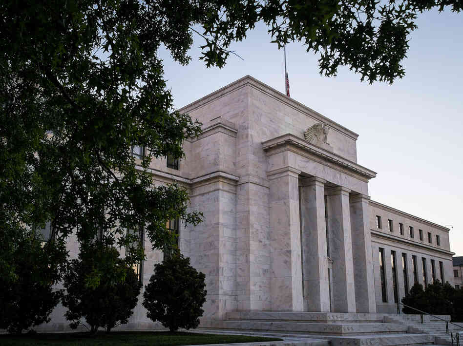 The Federal Reserve headquarters in Washington, D.C., where the federal government shutdown left policymakers without key economic data.