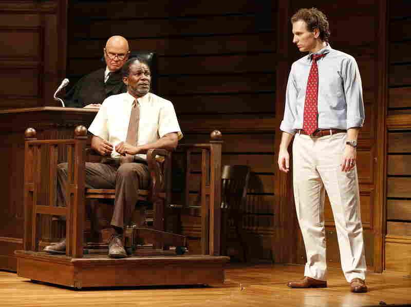 Fred Dalton Thompson, John Douglas Thompson and Sebastian Arcelus in a scene from the Broadway adaptation of A Time to Kill.