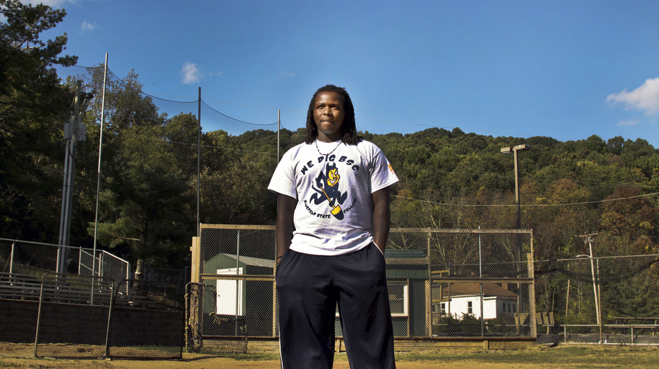 Antonio Bolden, a 19-year-old student and baseball player, is a rarity at Bluefield State: He started college right after high school and isn't from the region. (NPR)