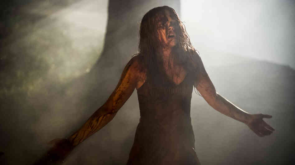 Blood Price: Chloe Moretz steps into Sissy Spacek's blood-soaked prom dress in a contemporary update of Carrie.