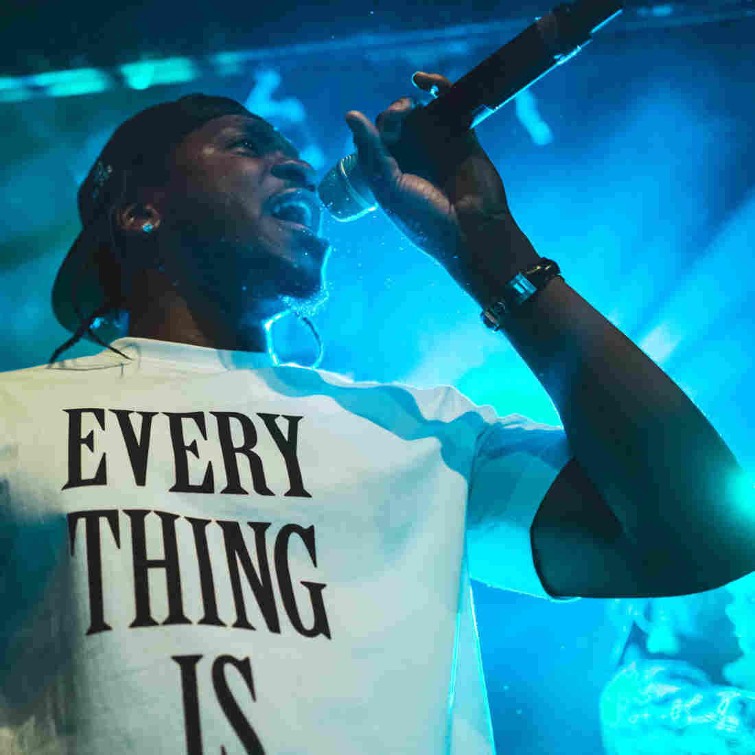 Pusha T performs live at NPR Music's showcase at Le Poisson Rouge in New York City on Wednesday, Oct. 16.