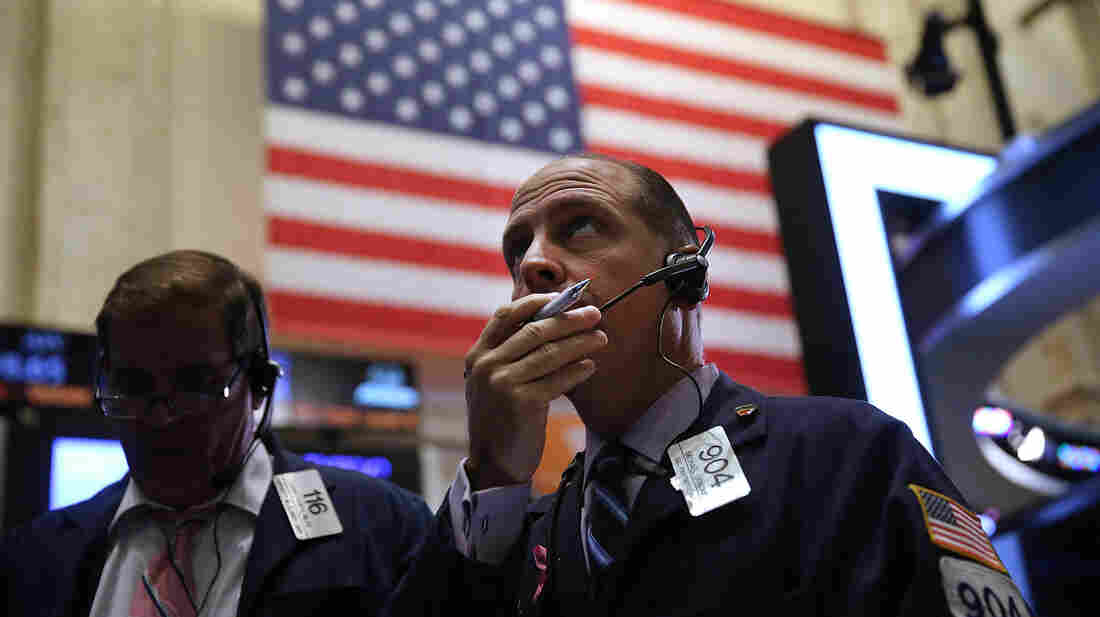 Traders work on the floor of the New York Stock Exchange on Wednesday, in New York City.