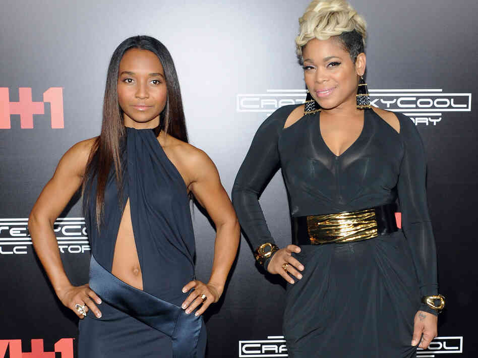 TLC's Chilli and T-Boz attend the New York premiere of CrazySexyCool on Oct. 15, 2013.
