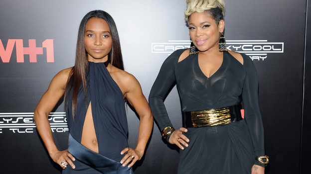 TLC's Chilli and T-Boz attend the New York premiere of CrazySexyCool on Oct. 15, 2013. (Getty Images for VH1)