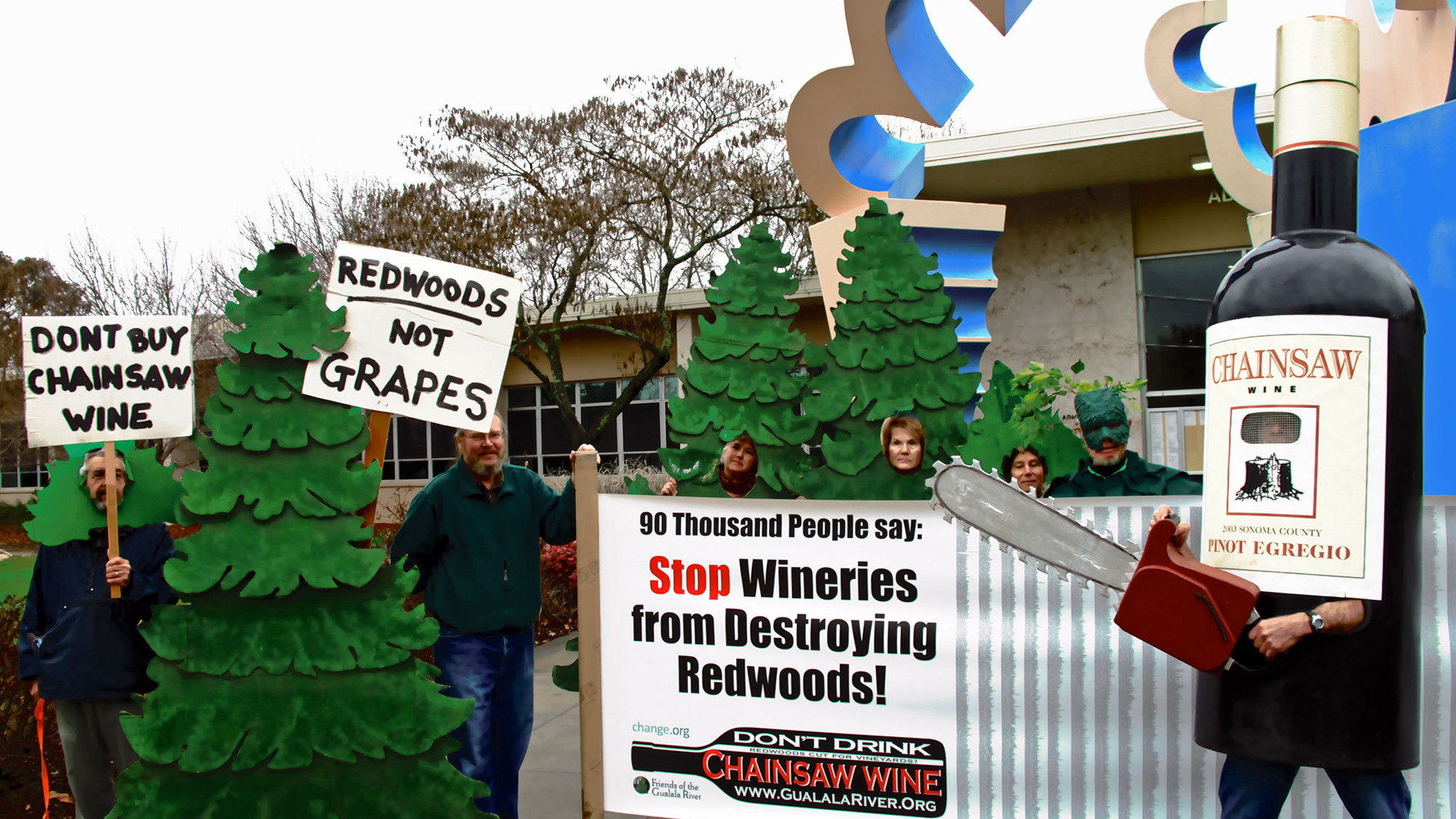 A Fight Over Vineyards Pits Redwoods Against Red Wine