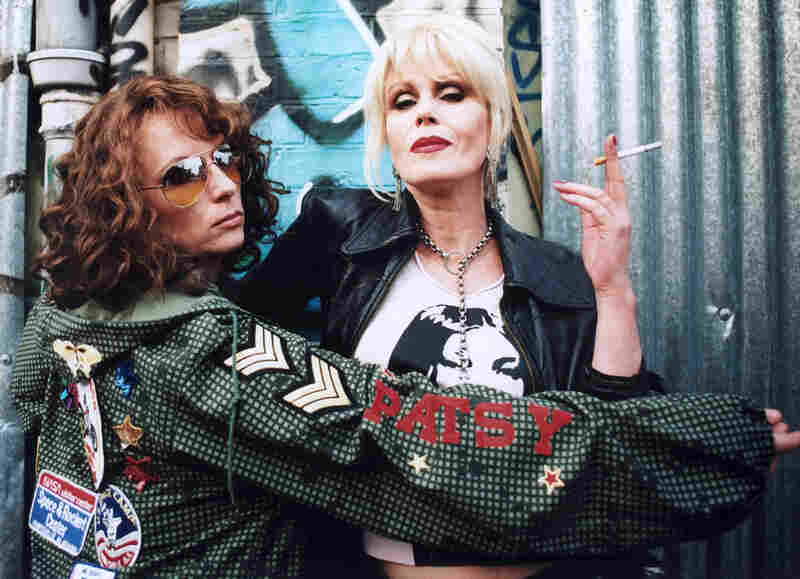 Jennifer Saunders (as Edina 'Eddy' Monsoon) and Joanna Lumley (as Patsy Stone), from Absolutely Fabulous