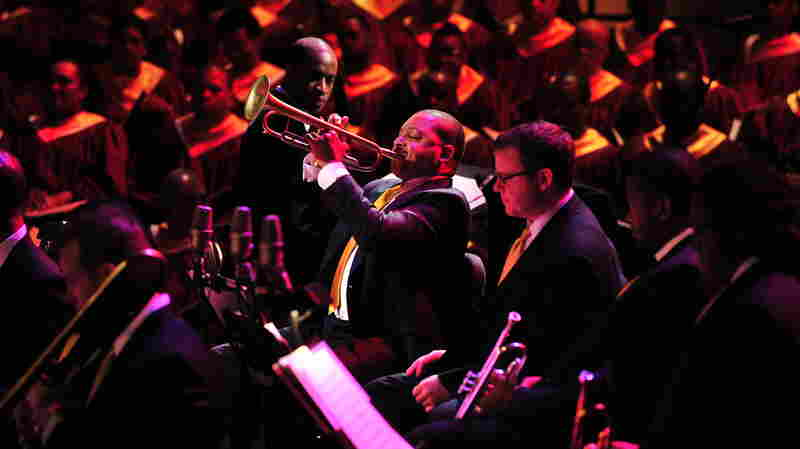 Trumpeter Wynton Marsalis performs his Abyssinian Mass in 2008.