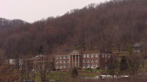 Conley Hall, home of the library and administrative offices of Bluefield State College, photographed in April 2004.