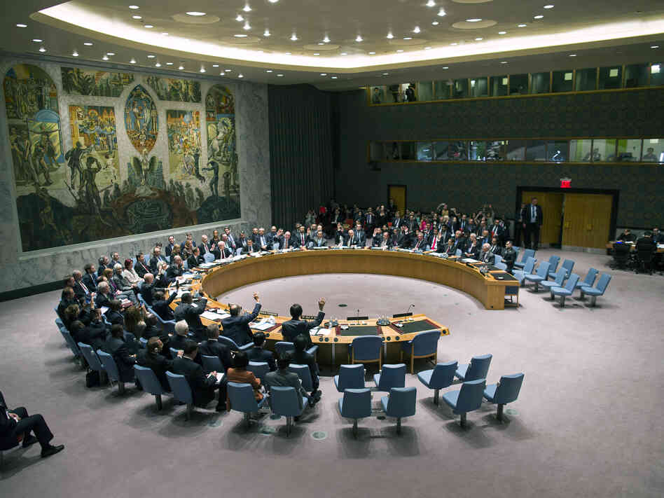 The U.N. Security Council votes on
