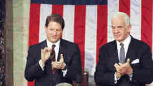 House Speaker Tom Foley (back, right) and Vice President Al Gore applaud during President Bill Clinton's State of the Union address on Jan. 24, 1994.
