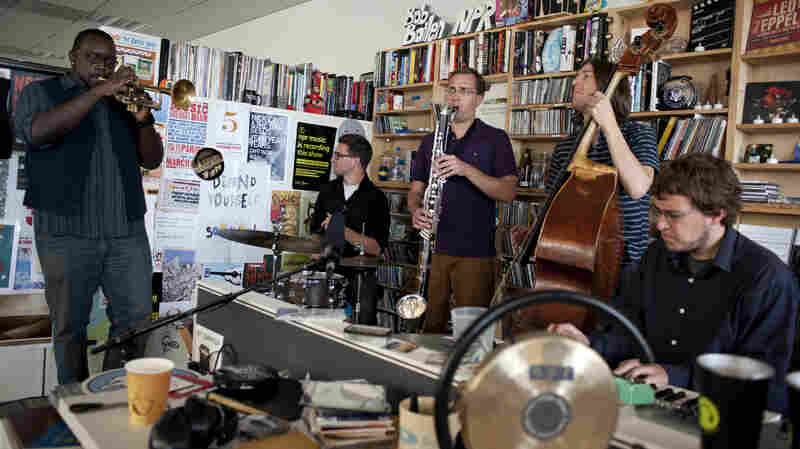 Matt Ulery performs at a Tiny Desk Concert in August 2013.