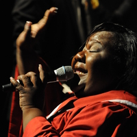 A member of the Chorale Le Chateau performs in Abyssinian: A Gospel Celebration in Charlotte, N.C.