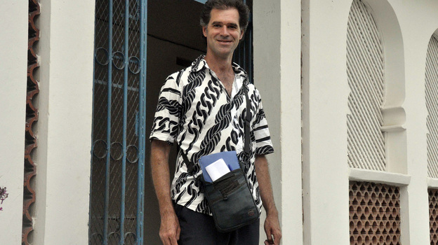 Mike Spencer Bown in Mogadishu, Somalia, in December 2010. (AFP/Getty Images)