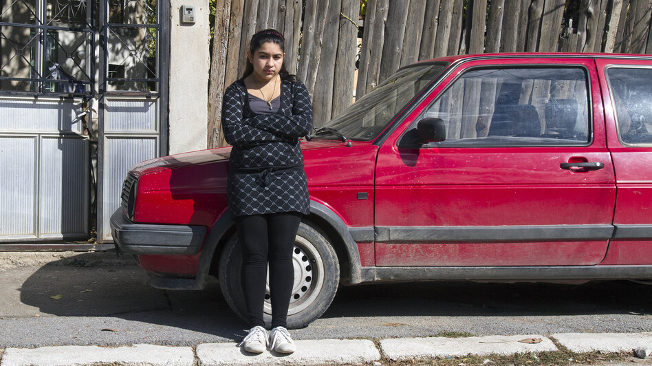 Leonarda Dibrani, 15, on Friday in Mitrovica, Kosovo. (AP)