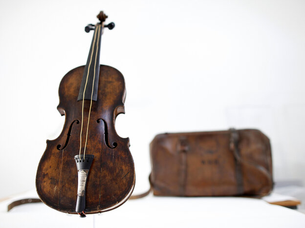 This violin is said to have been played by bandmaster