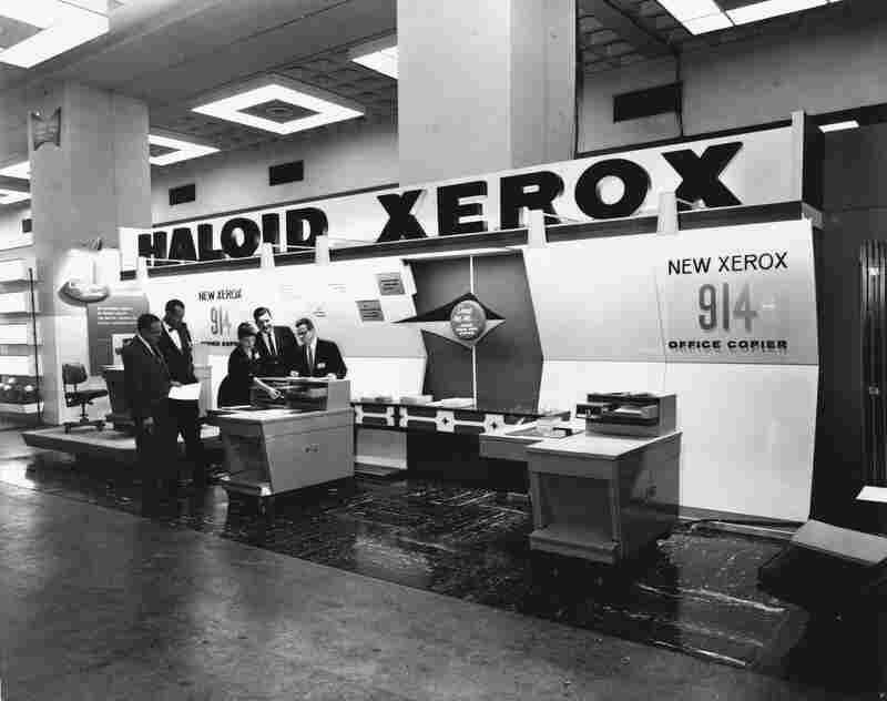 The Xerox copier model 914 seen at a trade show in 1959