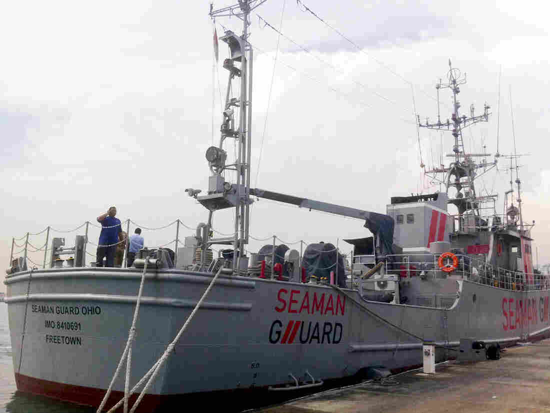 The MV Seaman Guard Ohio, owned by a U.S.-based security firm, was intercepted by the Indian Coast Guard off the southeastern state of Tamil Nadu.