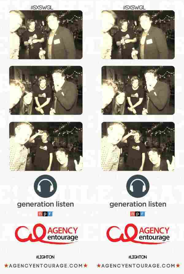 Photo booth images from the Generation Listen launch event at SXSWi.