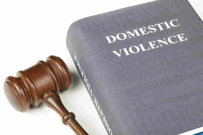 Gavel and book on domestic violence