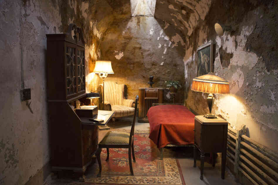 The cell of Al Capone, Eastern State's most famous prisoner, has been re-created according to a newspaper description from the time he was incarcerated.