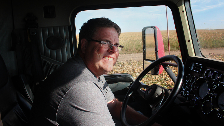 Mitchell Baalman, who farms 12,000 acres near Hoxie, Kan., pushed hard to get the farmers in his community to agree to pump less water from the aquifer. (NPR)