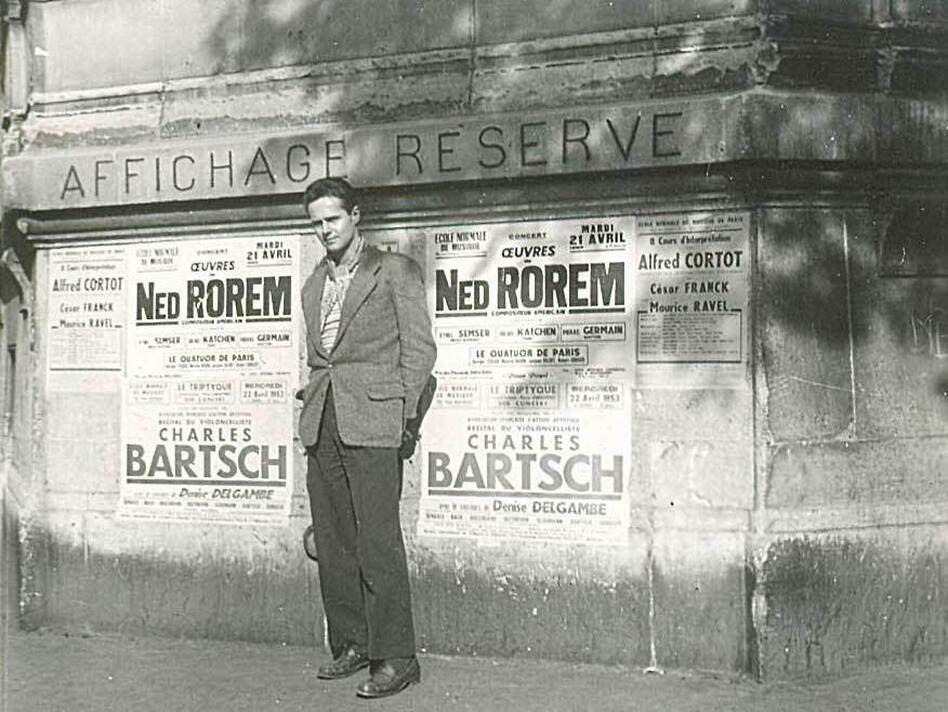 Composer Ned Rorem in 1953 in Paris, where he lived for nearly a decade and wrote his infamous <em>Paris Diary</em>.