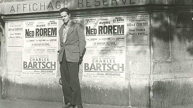Composer Ned Rorem in 1953 in Paris, where he lived for nearly a decade and wrote his infamous Paris Diary. (Courtesy of the artist)