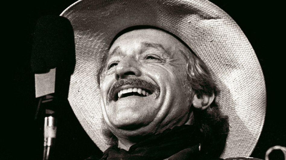 Ramblin' Jack Elliott performing live on Mountain Stage in 1989. (Mountain Stage)
