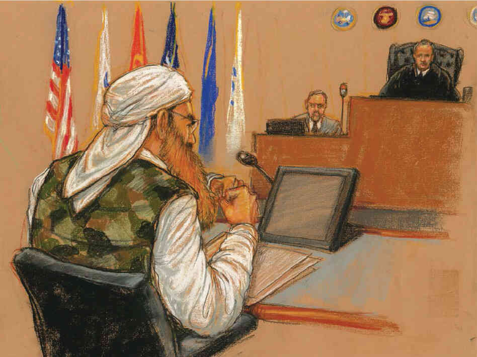 Khalid Sheikh Mohammed wore a camouflage vest to court. He argued that he was a warrior, and his lawyers conv