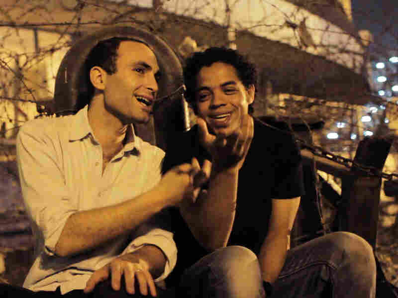 Before protesting in The Square, Khalid Abdalla (left) acted in such films as The Kite Runner, Green Zone and United 93.