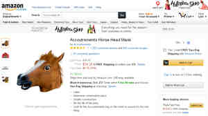 Missed It By That Much: Amazon has raised its minimum price for free shipping to $35, meaning that horse masks — a popular item among reviewers — are subject to a shipping fee.