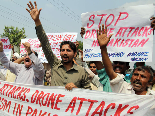 Last month, protesters in Multan, Pakistan, expressed their anger about U.S. drone strikes.