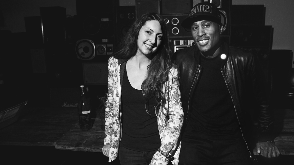 Frannie Kelley and Ali Shaheed Muhammad at the Ace Hotel Sept. 25. (Ebru Yildiz for NPR)