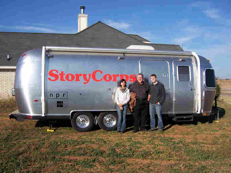 On the move: In 2005, StoryCorps launched its first MobileBooth tour to begins its chapter as a traveling oral history project. The StoryCorps Airstream trailer is pictured here at a stop in Kansas City.