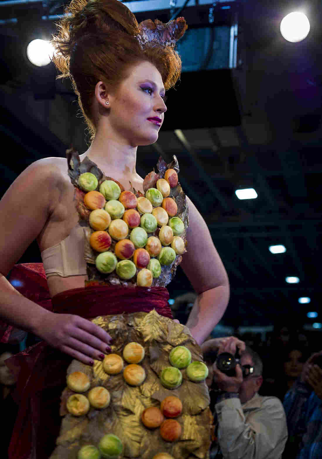 London patisserie On Cafe's entry featured a gown covered in macarons, of course.