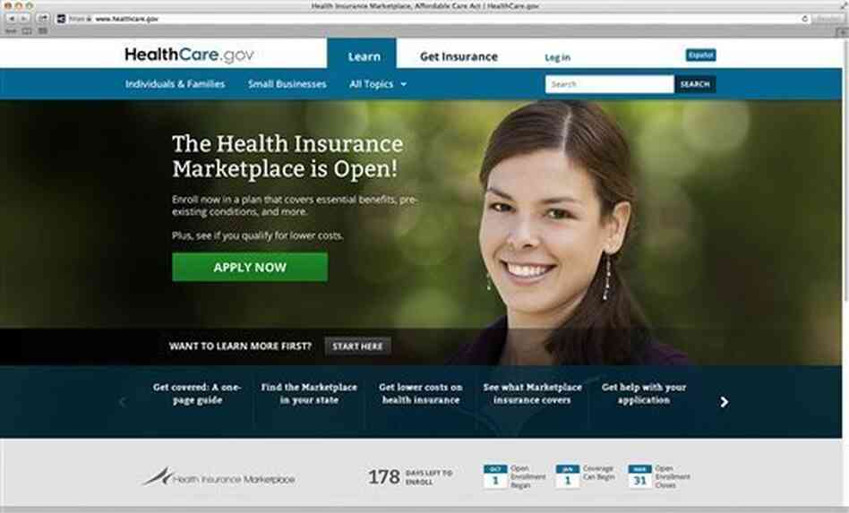 Glitches in the HealthCare.gov website, shown here, are making the White House and its allies very nervous.