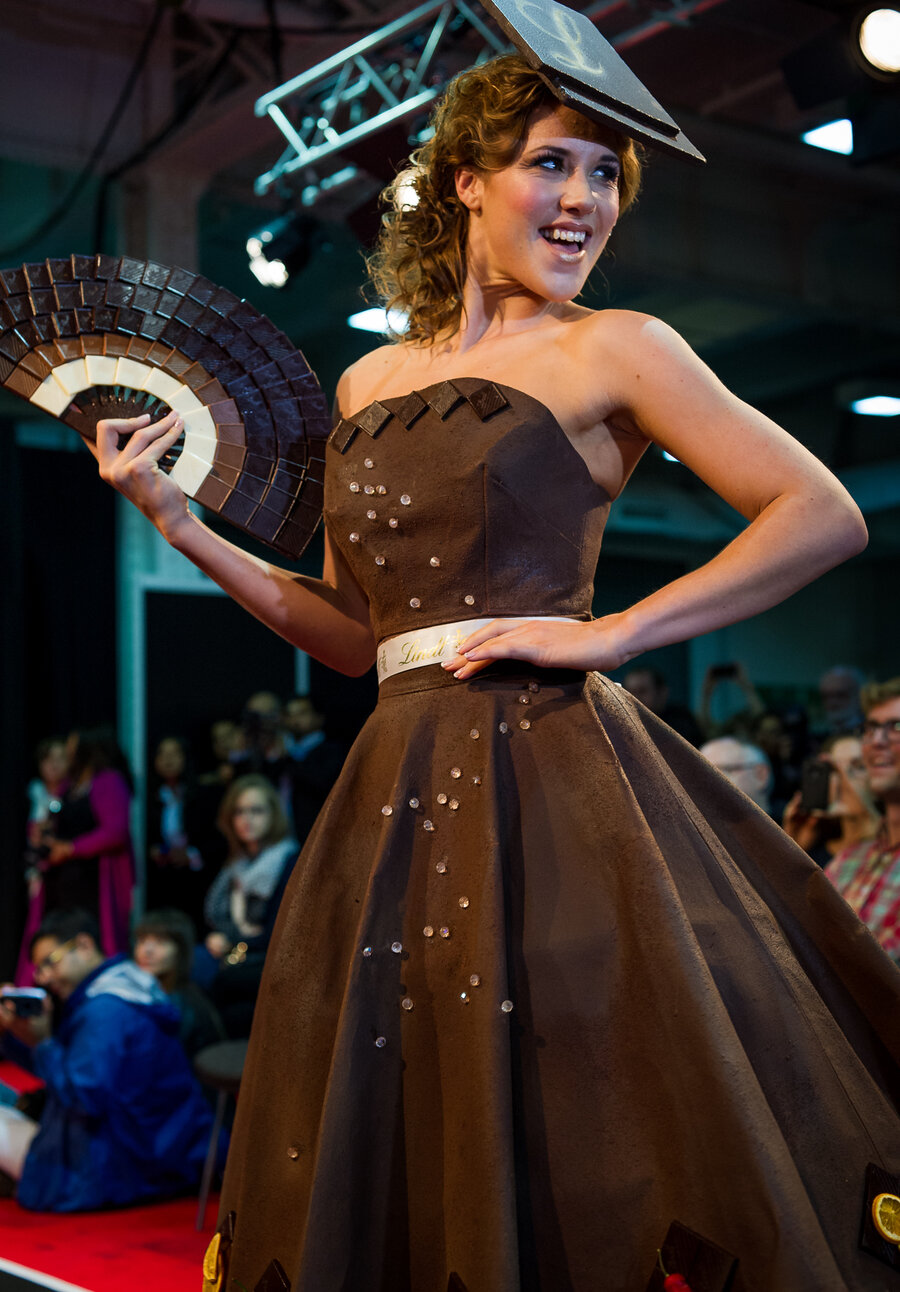 Chocolate Fashions Make For A Truly Sweet Little Black Dress : The ...
