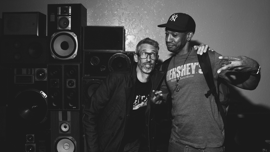 Stretch Armstrong (left) and Prince Paul at the Ace Hotel Sept. 25. (Ebru Yildiz for NPR)