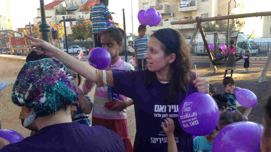 Michal Chernovitsky was one of several ultra-Orthodox women who ran for a seat on the all-male local council in El'ad, Israel. None of the women won a spot in Tuesday's vote, but they said they would continue to be active in politics.