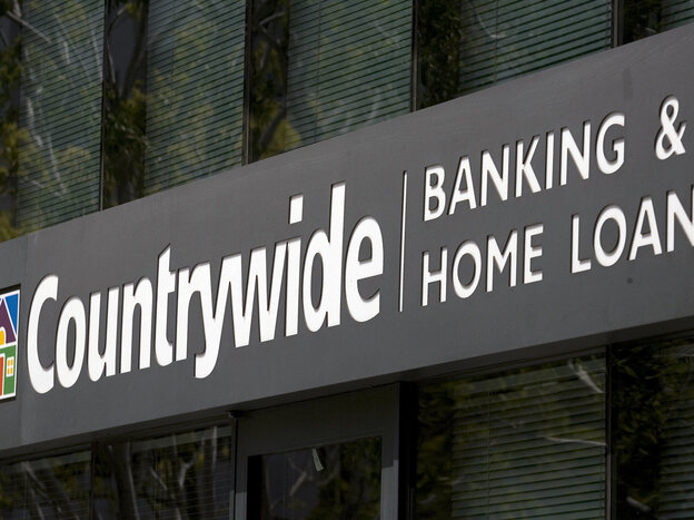 The Countrywide Banking and Home Loans office in Glendale, Calif., in an April  2007 photo.