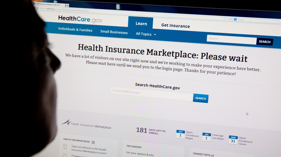 Heavy Internet traffic and system problems plagued the launch of the new HealthCare.gov insurance exchange site. (AFP/Getty Images)
