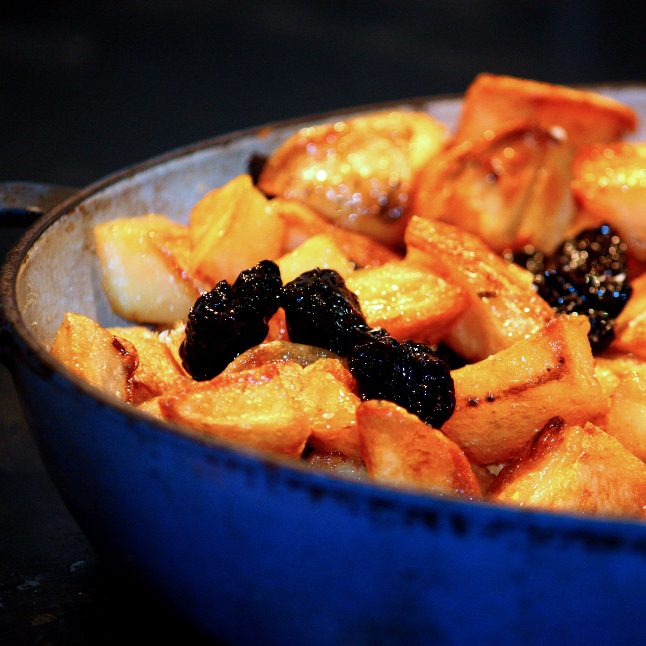 Roasted Potatoes With Caramel And Prunes