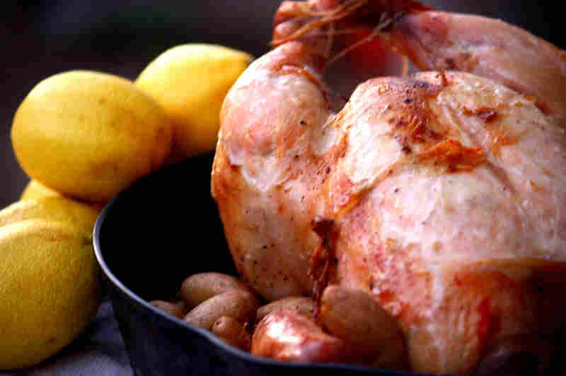 Roast Chicken With Lemons