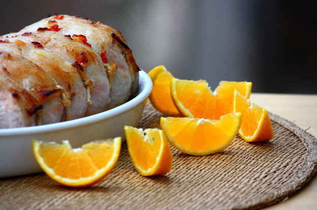 Pork Loin Roasted With Oranges And Tomatoes