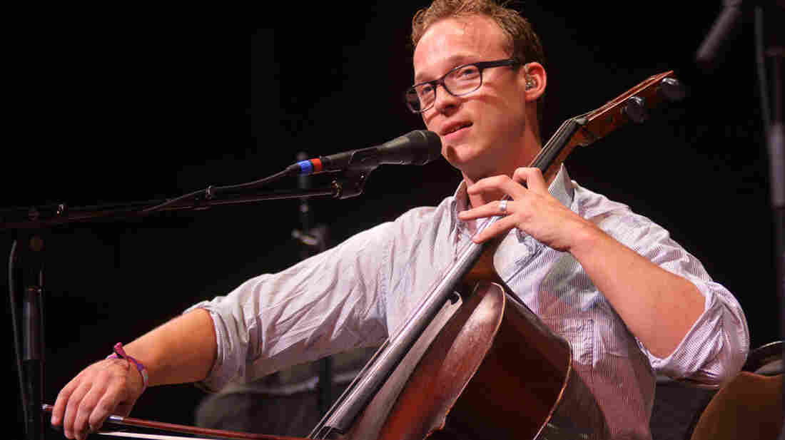 Ben Sollee performing live on Mountain Stage.