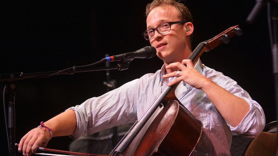 Ben Sollee performing live on Mountain Stage. (Mountain Stage)