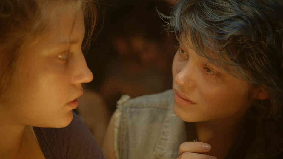 Blue Is the Warmest Color focuses on the relationship that develops between Adele (Adele Exarchopoulos, left) and Emma (Lea Seydoux), and it includes two explicit sex scene that have raised hackles among some critics.