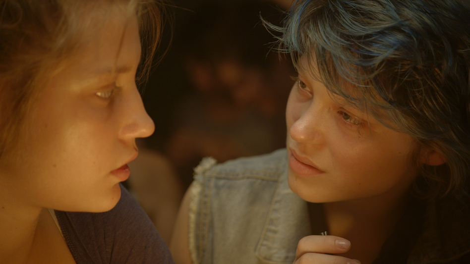 <em>Blue Is the Warmest Color</em> focuses on the relationship that develops between Adele (Adele Exarchopoulos, left) and Emma (Lea Seydoux), and it includes two explicit sex scene that have raised hackles among some critics.